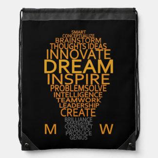 Bolso inspirado del personalizado de la bombilla mochilas