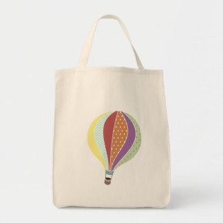 Bolso inspirado retro del globo del aire caliente bolsa tela para la compra