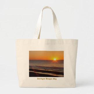 Bolso inteligente del diseñador - salida del sol d bolsa de tela grande