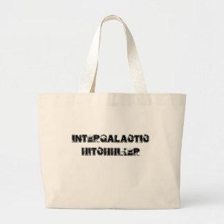 Bolso intergaláctico del autostopista bolsa tela grande
