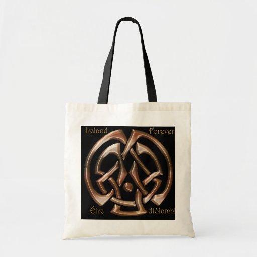 Bolso irlandés del diseñador de la historia de art bolsas de mano