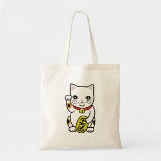 Bolso japonés lindo del gato de la buena suerte de