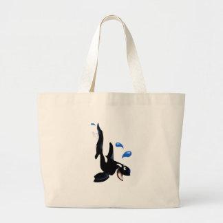 Bolso juguetón de la orca bolsa tela grande