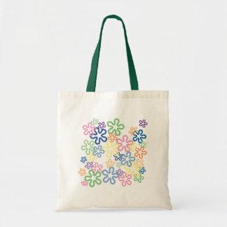 Bolso la bolsa de asas del regalo del flower power