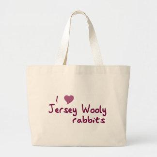 Bolso lanoso de los conejos del jersey bolsas lienzo