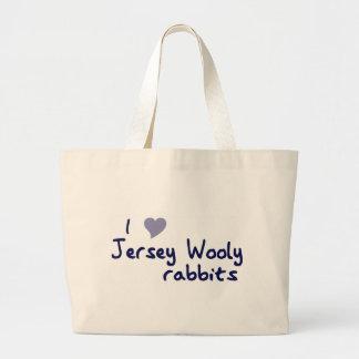 Bolso lanoso de los conejos del jersey bolsa de mano
