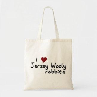 Bolso lanoso de los conejos del jersey bolsa lienzo