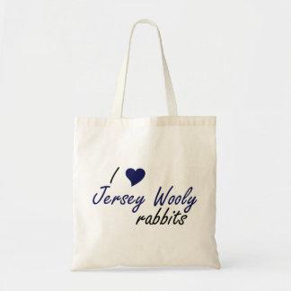 Bolso lanoso de los conejos del jersey bolsas de mano