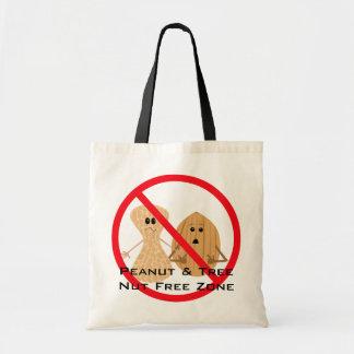 Bolso libre de la alergia del cacahuete y de la bolsa tela barata