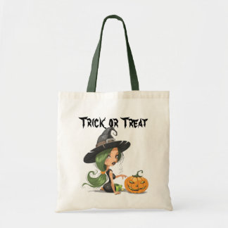 Bolso lindo de la bruja de Halloween Bolsa Tela Barata