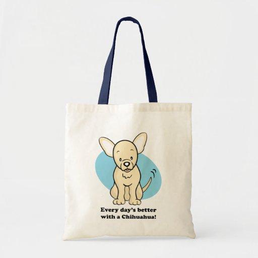 Bolso lindo de la chihuahua del perro del dibujo a bolsa de mano