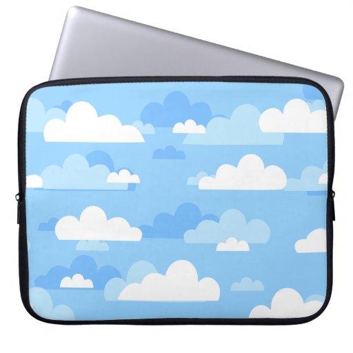 Bolso lindo de la electrónica del cielo nublado funda ordendadores