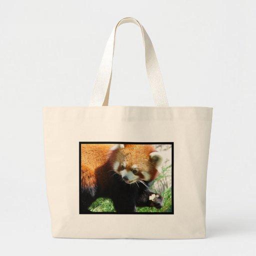 Bolso lindo de la lona del oso de panda roja bolsas de mano