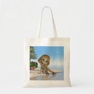 bolso lindo de la playa, colección de la empanada  bolsa tela barata