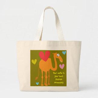 Bolso lindo del camello bolsa tela grande