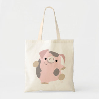 Bolso lindo del cerdo del baile del dibujo animado bolsa