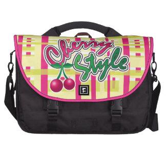 bolso lindo del estilo de la cereza d3 bolsas de ordenador