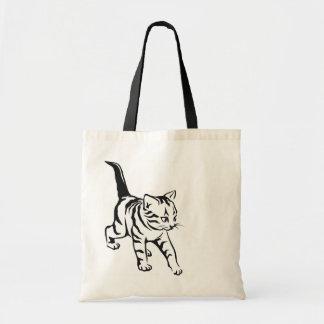 Bolso lindo del gato bolsa lienzo