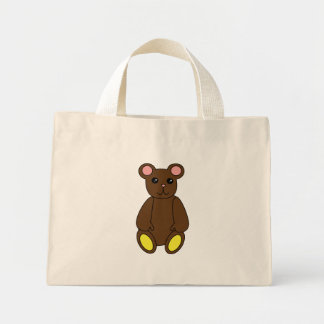 Bolso lindo del oso de Brown Bolsa Tela Pequeña