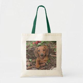 Bolso lindo del perro, dachshund, doxie bolsa tela barata