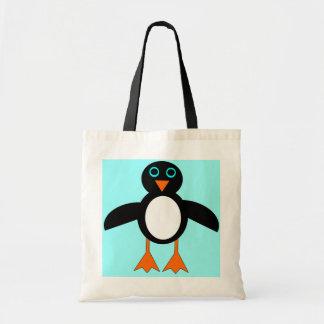 Bolso lindo del regalo del pingüino bolsa lienzo