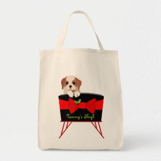 Bolso lindo del regalo del tote del navidad - perr bolsa tela para la compra