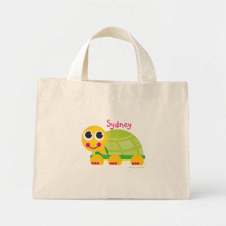 Bolso lindo personalizado de la tortuga bolsa de tela pequeña