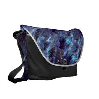 Bolso líquido azul marino del camo bolsas messenger