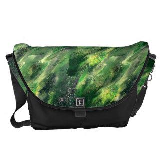 Bolso líquido verde del camo bolsas messenger
