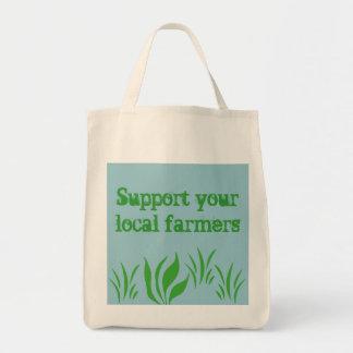 Bolso local de Farmers_Tote de la ayuda Bolsa