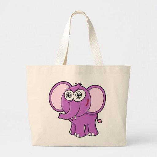 Bolso loco grande del jumbo del elefante bolsa lienzo