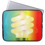 Bolso luminoso de la electrónica de la bombilla fundas portátiles