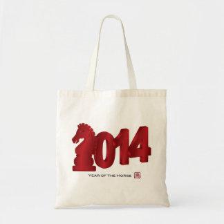 Bolso lunar chino del Año Nuevo 2014 Bolsa De Mano