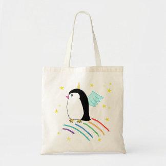 Bolso mágico de Uniguin del pingüino del unicornio Bolsa Tela Barata