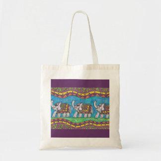 Bolso maravilloso del desfile del elefante bolsas de mano