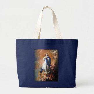 Bolso mariano del ejército azul de Immaculata Bolsa Tela Grande