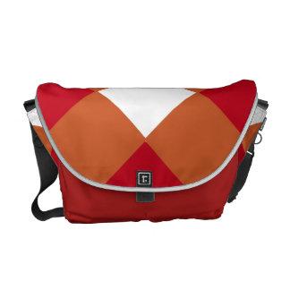 Bolso marrón anaranjado quemado bolsas messenger
