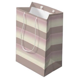 Bolso medio sombreado del regalo de las rayas bolsa de regalo mediana