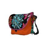 Bolso moderno rosado del viajero del crisantemo bolsas messenger