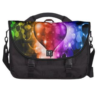 Bolso multicolor del ordenador portátil del corazó bolsas de ordenador