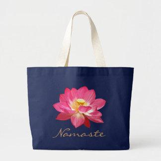 Bolso Namaste 2 de la flor de Lotus Bolsa Tela Grande
