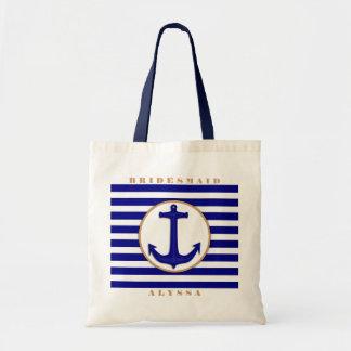 Bolso náutico del regalo del nombre de la marina bolsas de mano