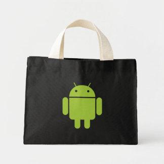 Bolso negro androide bolsa tela pequeña