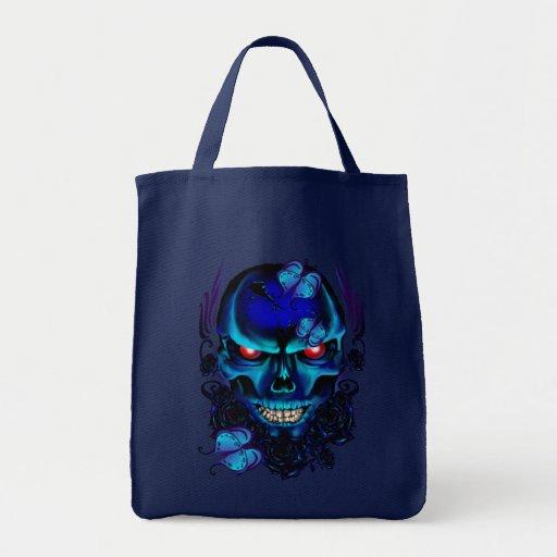 Bolso negro del cráneo de las mariposas y de los r bolsa