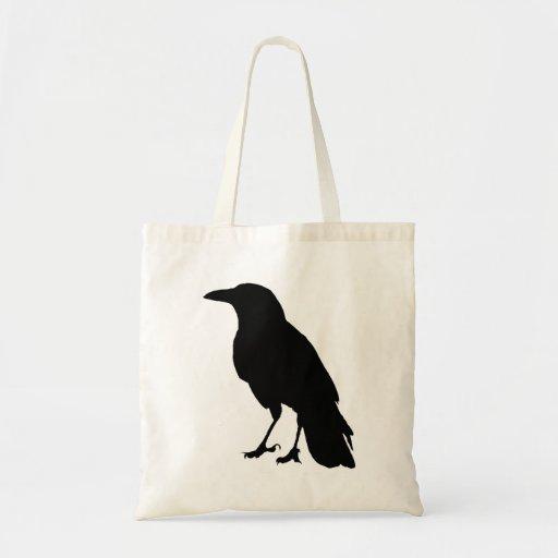 Bolso negro del cuervo bolsas