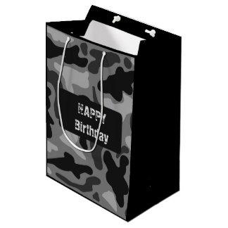 Bolso negro del regalo de cumpleaños de los bolsa de regalo mediana