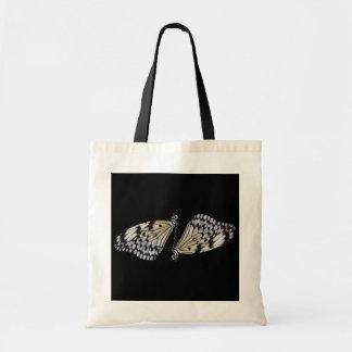 Bolso negro y blanco del dúo de la mariposa bolsa