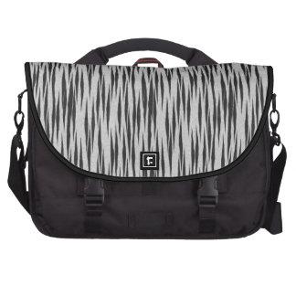Bolso negro y blanco del ordenador portátil del mo bolsas para portatil