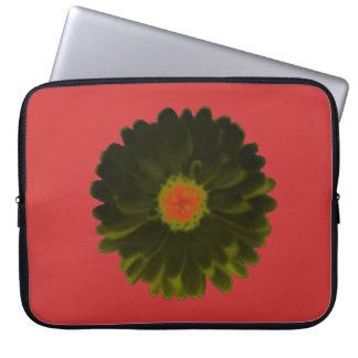 Bolso negro y rojo del ordenador portátil de la ma funda portátil