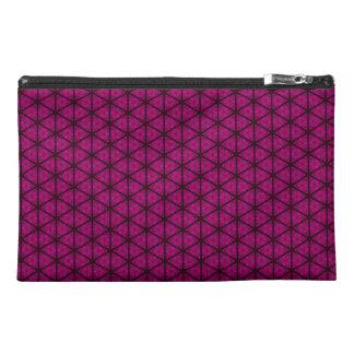 Bolso negro y rosado del accesorio del viaje del